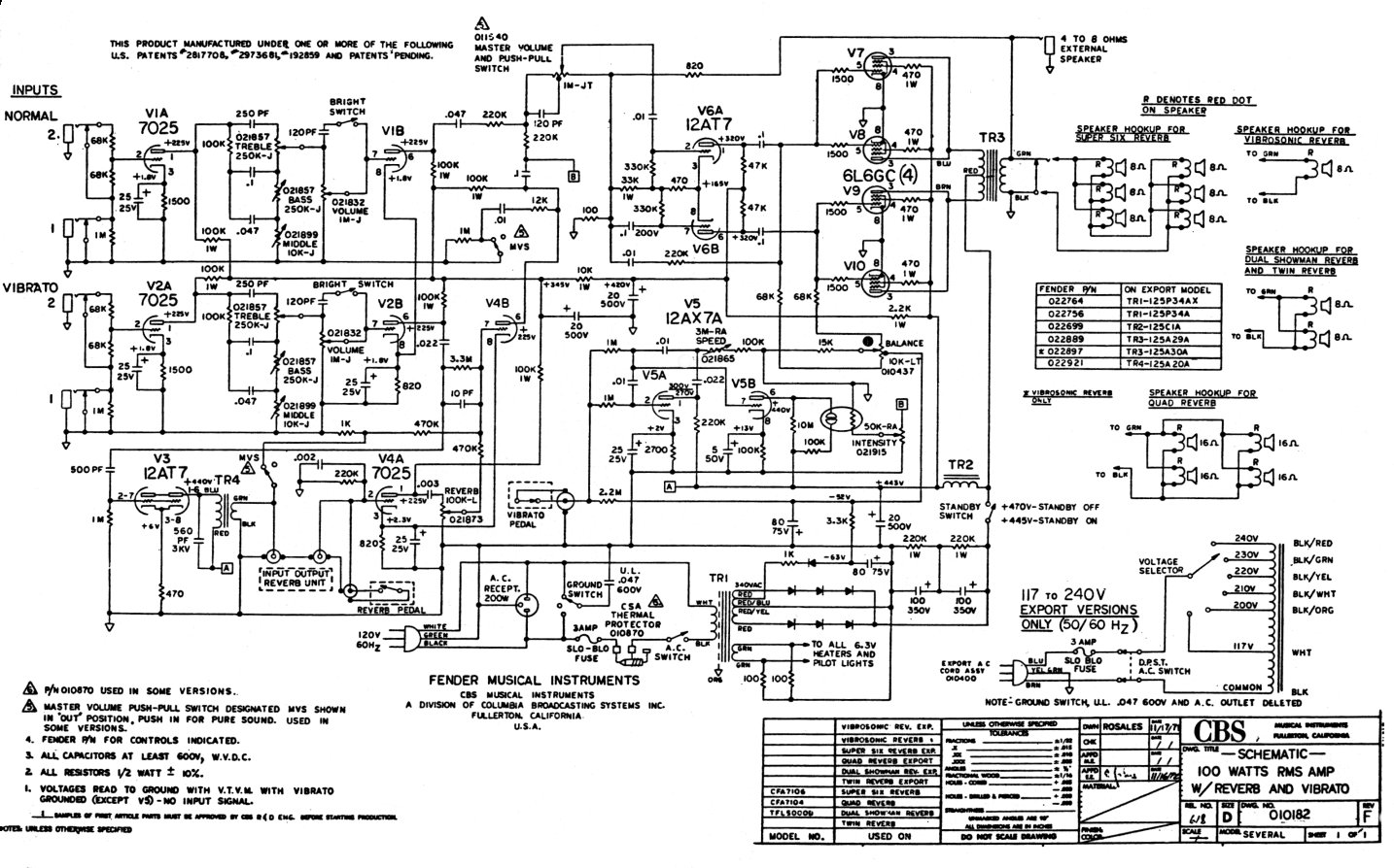 Fender Rumble Bass Schematic - DIY Enthusiasts Wiring Diagrams •
